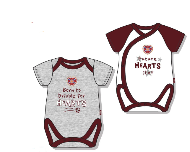2 pack Baby Bodysuits (grey/white/maroon)