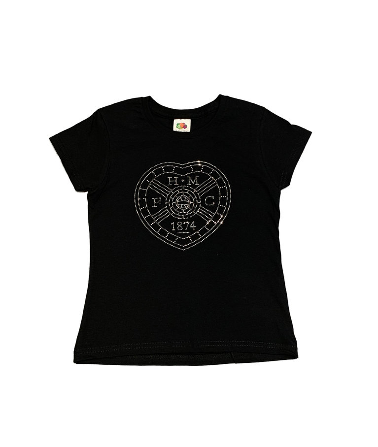 Black Diamante Crest T-Shirt