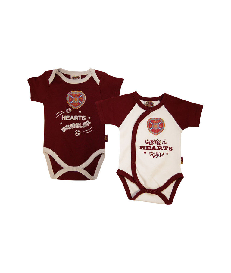 Born a Hearts Fan 2 Pack Bodysuit