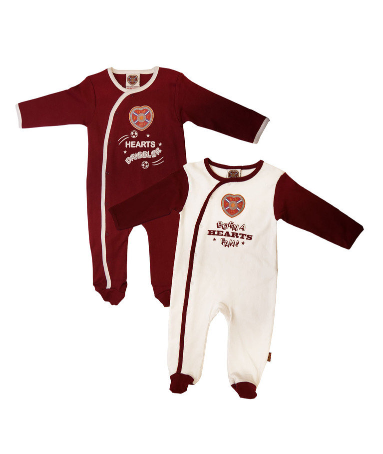 Born a Hearts Fan 2 Pack Sleepsuit