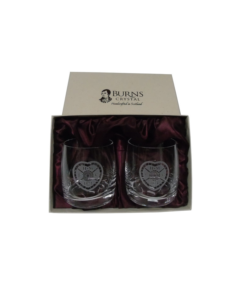 Crested Pair of Whisky Glasses
