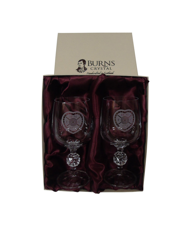 Crested Pair of Wine Glasses