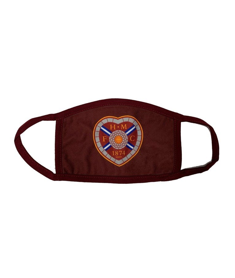 Face Covering Large Crest - Maroon