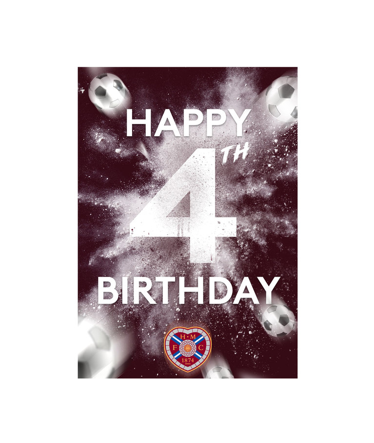 Happy 4th Birthday Card