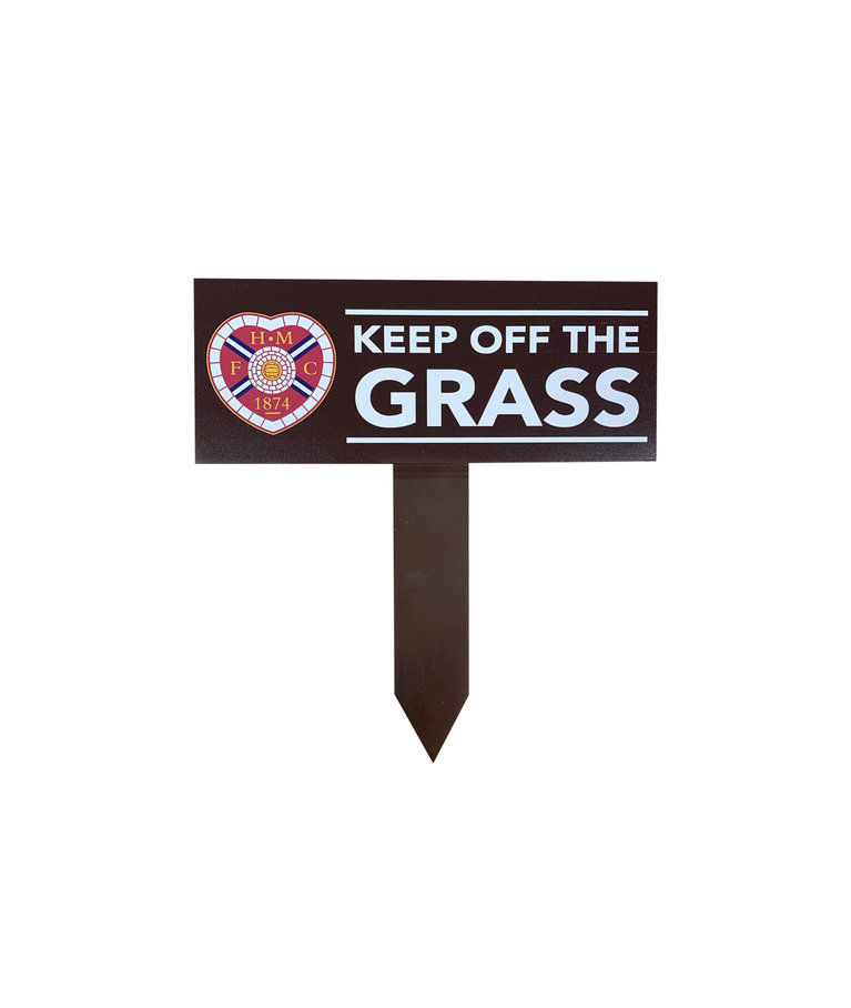 Keep Off The Grass Sign.