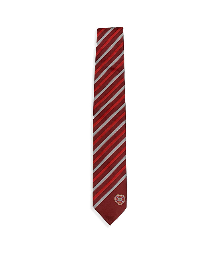 Maroon Tie with Red & Grey stripes
