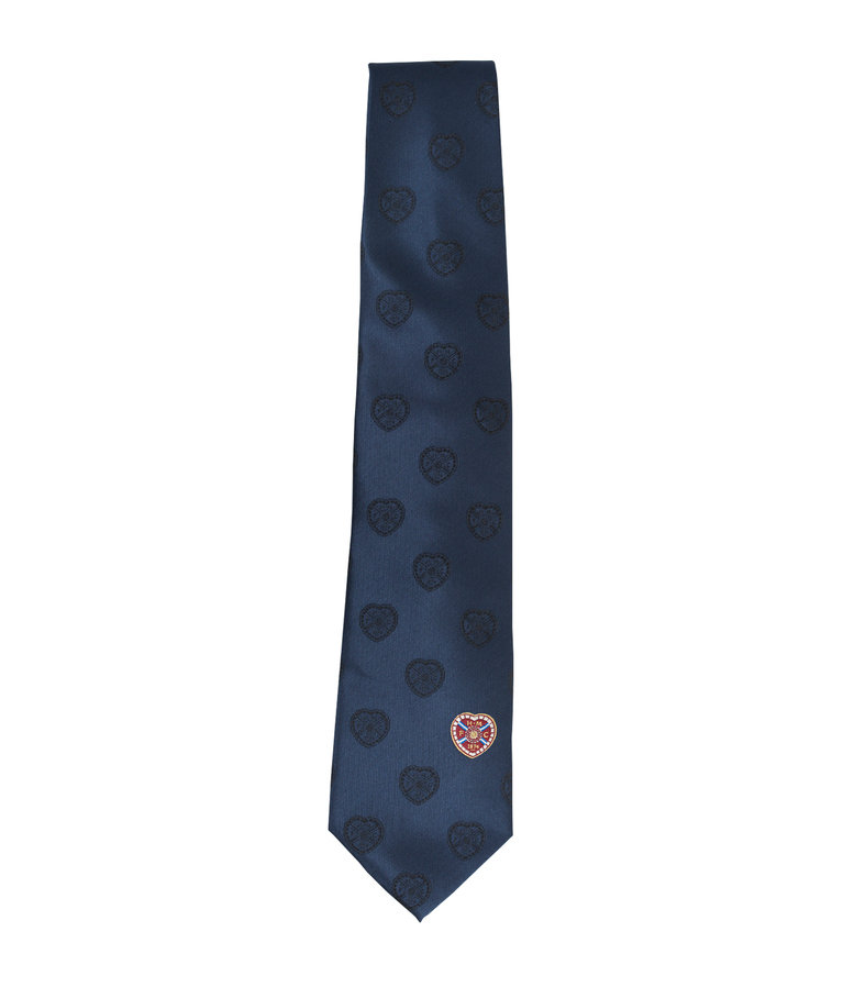 Navy Full Colour Crest Tie