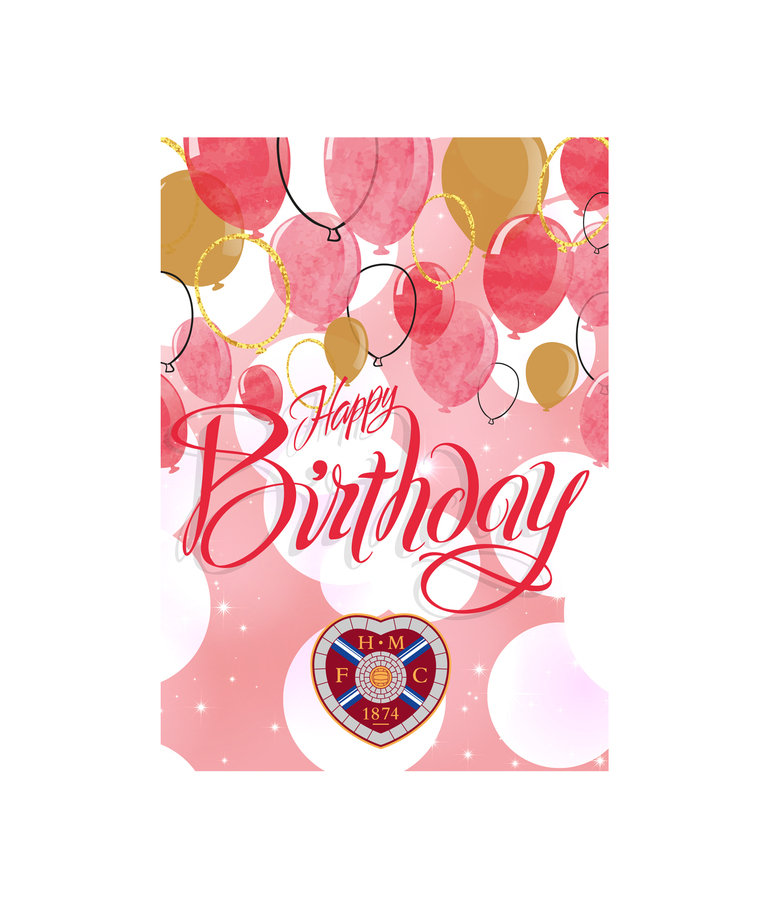 Pink Balloon Birthday Card