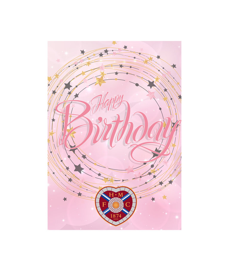 Pink Star Birthday Card