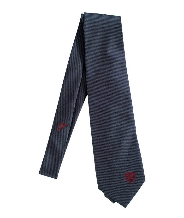 Formal Tie with Maroon Crest
