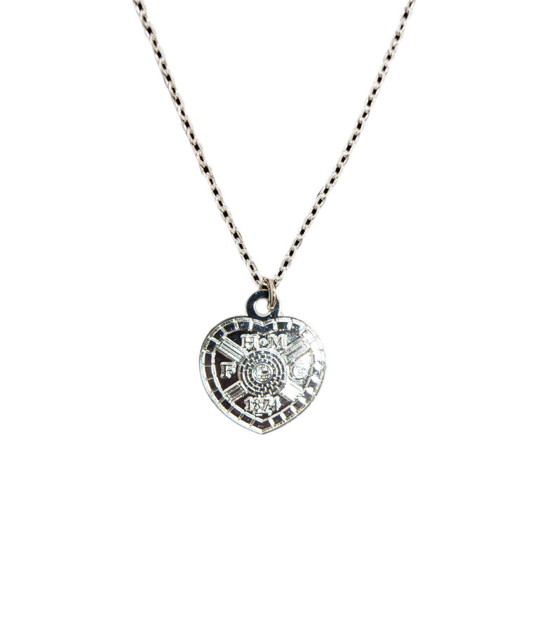 Silver Plated Crest Pendant & Chain