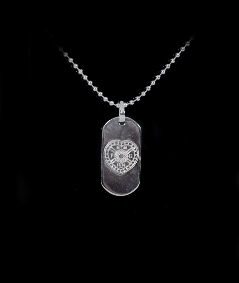 Silver Plated Dog Tag with Chain