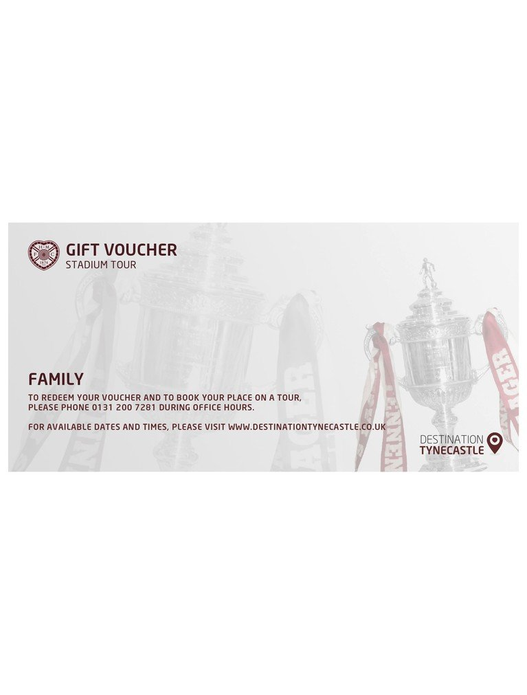 Stadium Tour: Voucher