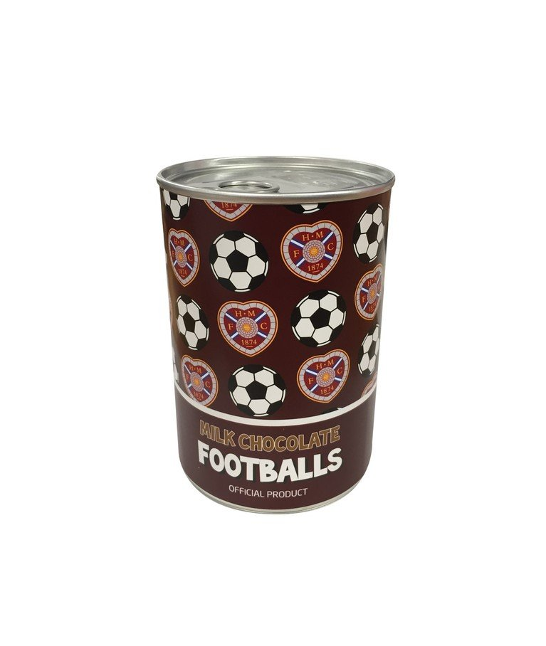 Tin of Chocolate Footballs