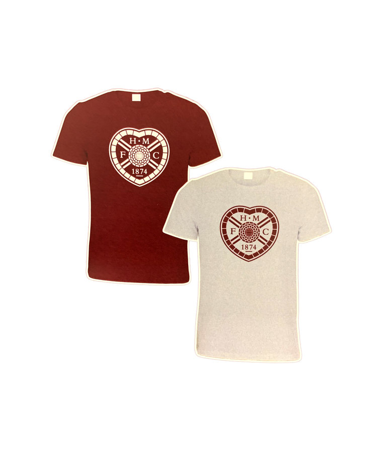 Twin Pack T-Shirts (maroon & grey)