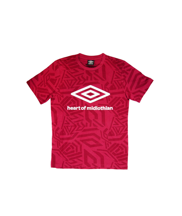 Umbro Poolside Collection T-Shirt - Maroon - Gents