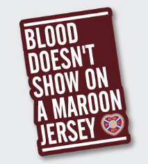 Wooden Magnet - Blood Doesn't show on a maroon jersey