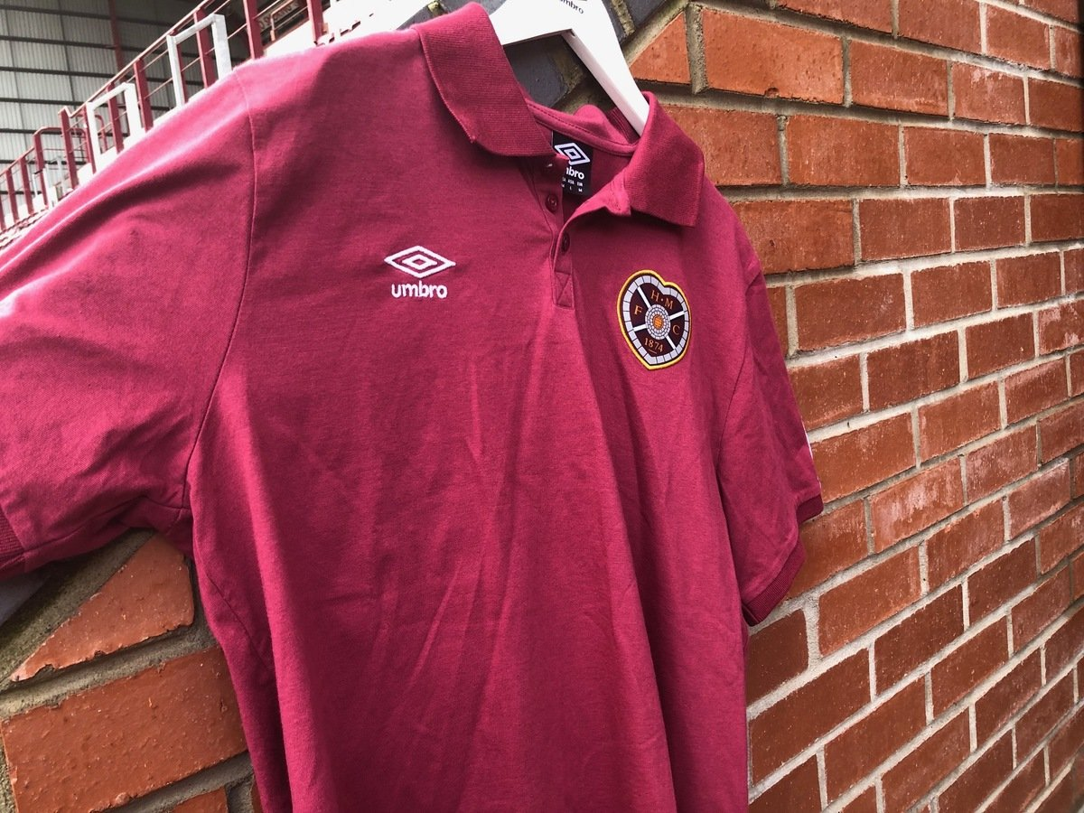 cad65dd8 Umbro Retro Taped Polo Shirt | Heart of Midlothian