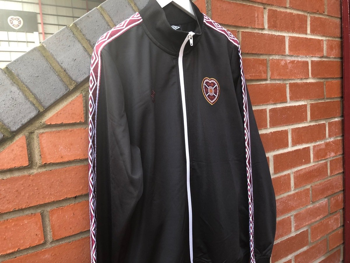 1bbf7e9e Umbro Retro Taped Tricot Jacket | Heart of Midlothian